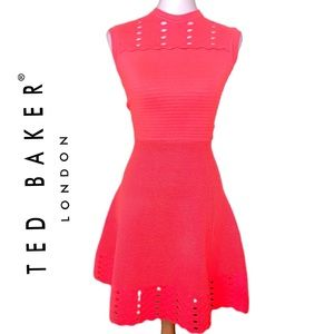TED BAKER Zaralie jacquard panel skater dress